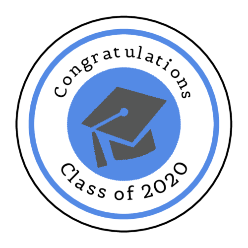 Graduation cap sticker template