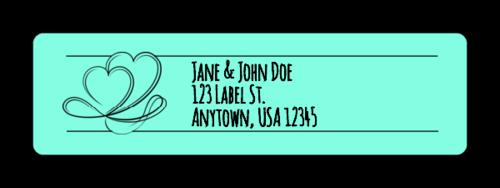 "OL25 - 1.75"" x 0.5"" - Calligraphic Wedding Address Labels"
