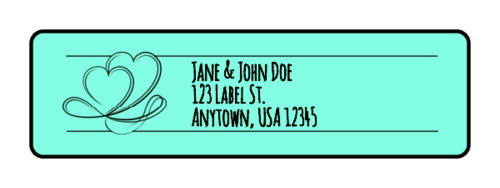 Calligraphic Wedding Address Labels pre-designed label template for OL25