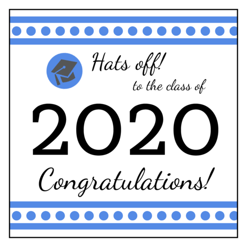 "OL805 - 3"" x 3"" - Graduation Square Labels"
