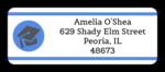Graduation Address Labels with Cap