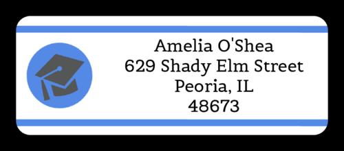 "OL875 - 2.625"" x 1"" - Graduation Address Labels with Cap"