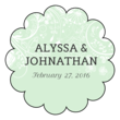 Floral Scalloped Wedding Labels