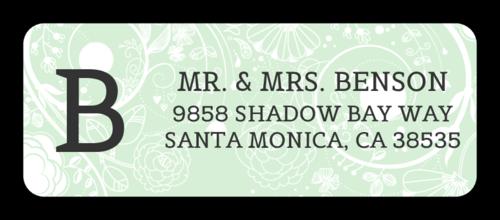 """OL875 - 2.625"""" x 1"""" - Floral Monogrammed Address Labels"""