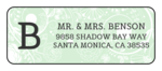 Floral Monogrammed Address Labels