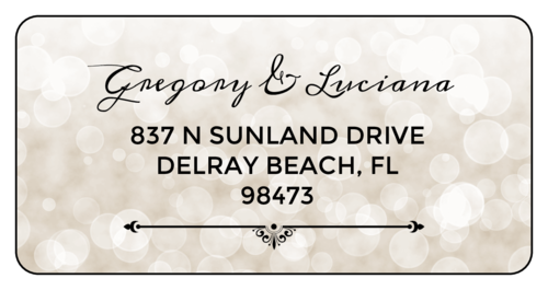 "OL125 - 4"" x 2"" - Bokeh Address Labels"