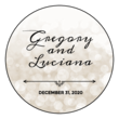 Bokeh Wedding Announcement Circle Labels