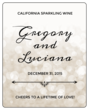 Bokeh Wedding Wine Bottle Labels