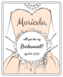 """Will you be my Bridesmaid?"" Wine Bottle Labels"