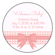 Birth Announcement Circle Labels