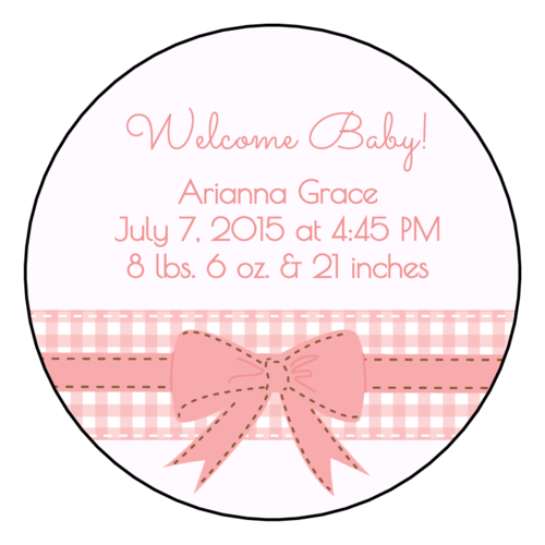 "OL350 - 2.5"" Circle - Birth Announcement Circle Labels"