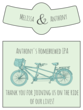 Tandem Bike Wedding Beer Bottle Labels