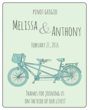 Tandem Bike Wedding Wine Bottle Labels