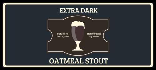 "OL5925 - 7"" x 3"" - Oatmeal Stout Full Wrap Beer Bottle Labels"