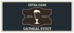 Oatmeal Stout Full Wrap Beer Bottle Labels