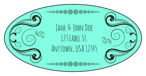 "OL9810 - 3.9375"" x 1.9375"" Oval - Calligraphic Oval Address Labels"