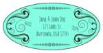 Calligraphic Oval Address Labels