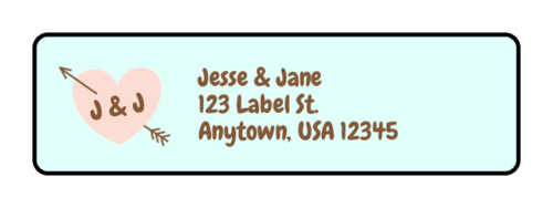 "OL25 - 1.75"" x 0.5"" - Cute Wedding Address Labels"