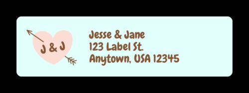 """OL25 - 1.75"""" x 0.5"""" - Cute Wedding Address Labels"""