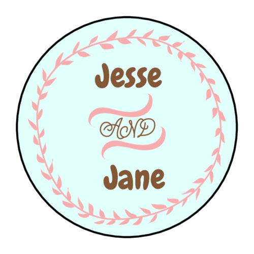 "OL325 - 1.67"" Circle - Cute Wedding Circle Labels"