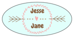 Cute Wedding Oval Labels