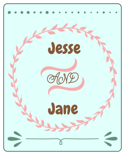 Wedding Labels Templates
