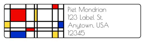 "OL75 - 4"" x 1"" - De Stijl Address Labels"