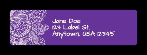 "OL25 - 1.75"" x 0.5"" - Paisley Address Label"