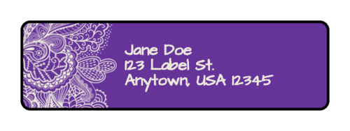 Paisley Address Label pre-designed label template for OL25