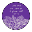 Paisley Circle Address Labels