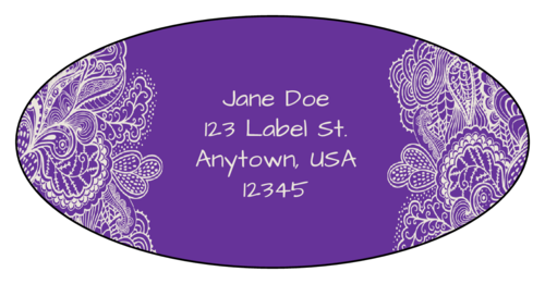 "OL9810 - 3.9375"" x 1.9375"" Oval - Paisley Oval Address Labels"