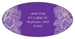 Paisley Oval Address Labels