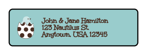 "OL25 - 1.75"" x 0.5"" - Easter Address Label"