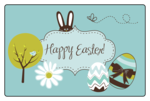 Easter Rectangular Jar Label