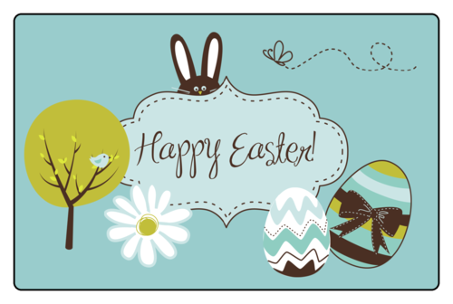 Easter Rectangular Jar Label pre-designed label template for OL575