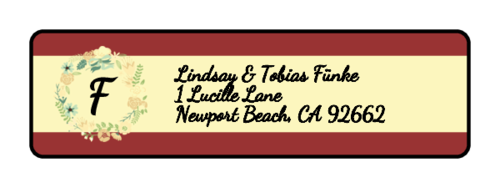 "OL25 - 1.75"" x 0.5"" - Florid Wedding Address Label"
