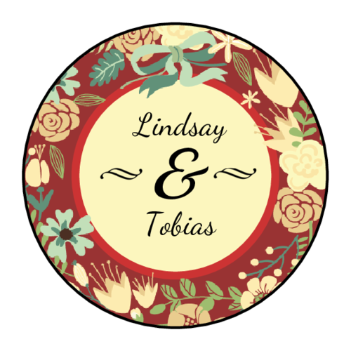 "OL325 - 1.67"" Circle - Florid Wedding Circle Labels"