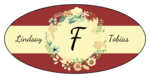 Florid Wedding Oval Labels