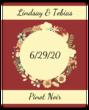 Florid Wedding Wine Bottle Label