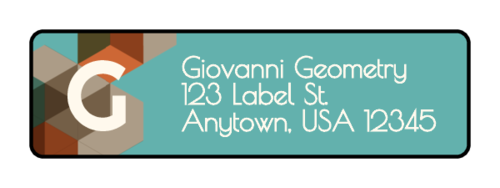 "OL25 - 1.75"" x 0.5"" - Low Poly Address Labels"