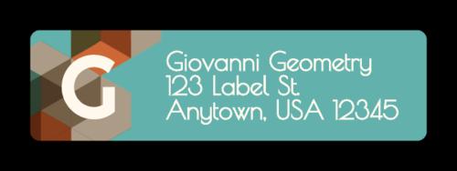 "OL25 - 1.75"" x 0.5"" - Low Poly Address Labels"