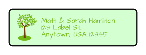 "OL25 - 1.75"" x 0.5"" - Family Reunion Address Labels"