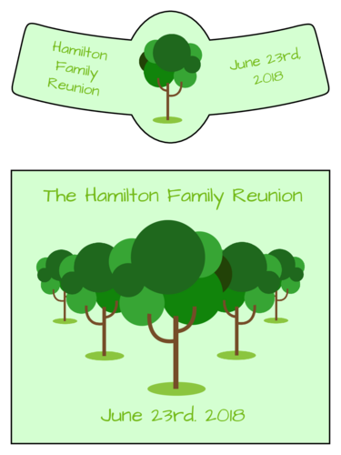 "OL3078 - 3.5"" x 3"" Beer - Family Reunion Beer Bottle Label"