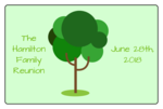 Family Reunion Rectangular Jar Label