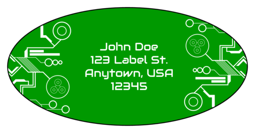 "OL9810 - 3.9375"" x 1.9375"" Oval - Tech Oval Address Labels"