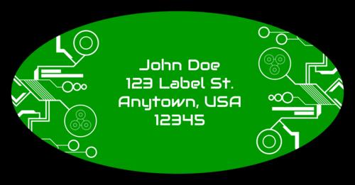 "OL9810 - 3.9375"" x 1.9375"" Oval - Tech Oval Address Labels"