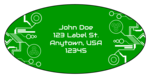 Tech Oval Address Labels