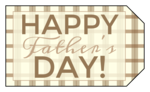 Brown Plaid Father's Day Gift Tags