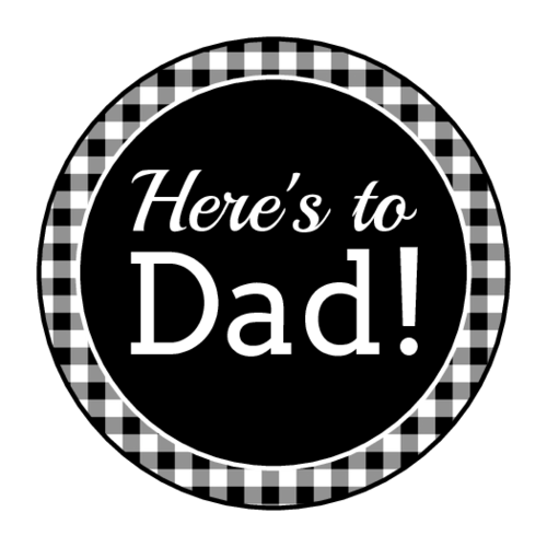 Flannel Father's Day Circle Labels pre-designed label template for OL2088