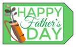 Father\'s Day Golf Gift Tag
